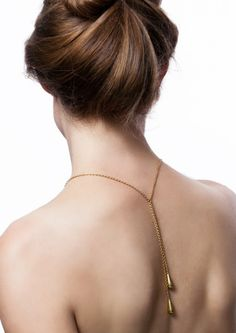 Thopa means drop in Nepali, and in the Thopa Necklace each end is finished with a heavy hanging brass drop. Effortless Chic, Slow Fashion, Sustainable Fashion, Backless, Handmade Jewelry, Gold Necklace, Den, Accessories, Gift