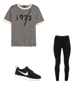 """""""Untitled #54"""" by amysonmaijah on Polyvore featuring Topshop, Peace of Cloth and NIKE"""