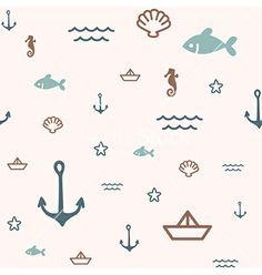 Pattern icon sea vector - by Reinekke on VectorStock®