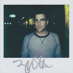 Zachary Quinto photographed by Portroids using Impossible PZ680 film