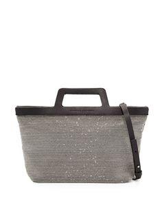 Mini Monili Tote Bag, Black/Silver by Brunello Cucinelli at Neiman Marcus.