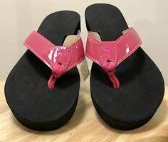 Eliza B Hot Pink Patent Flip Flops