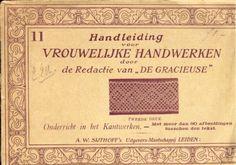 Handleiding voor Vrouwelijke Handwerken # 11 (Instructions for Women's Handwork), A. W. Sijthoff, Leiden.  Dutch book with pricking patterns