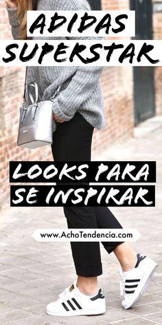O Adidas Superstar é um dos modelos de tênis mais clássicos e mais usados do mundo. Veja esses looks para se inspirar e copiar já! Via www.achotendencia.com adidas, looks, superstar, como usar, look do dia, inspiração, tenis, Tenis Adidas Star, Tenis Adidas Superstar Branco, Adidas Superstar Outfit, Adidas Outfit, Adidas Sneakers, Looks Adidas, Casual Street Style, White Sneakers, Casual Looks