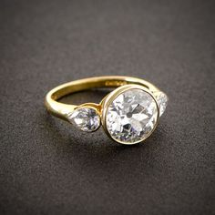 Estate Diamond Jewelry collects rare and fine vintage engagement rings. Their collection began in the 1980's and they have accumulated a beautiful selection of rare one-of-a-kind pieces. Their collections are comprised of only the pieces that reach their high standard of quality and style.