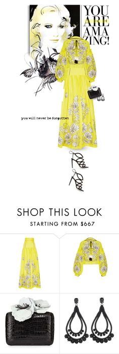 """""""If you're always trying to be normal, you will never know how amazing you can be"""" by blonde-bedu ❤ liked on Polyvore featuring Monique Lhuillier, Yuliya Magdych, Nancy Gonzalez and Oscar de la Renta"""