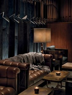 ♂ Masculine interior design Dark brown Lounge Area At The Royalton Hotel In New York City