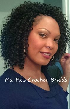 FreeTress Water Wave Hair styled by Ms Pks Crochet Braids in Mcdonough Ga visit . Curly Crochet Hair Styles, Crochet Braid Styles, Curly Hair Styles, Natural Hair Styles, African Hairstyles, Weave Hairstyles, Pretty Hairstyles, Girl Hairstyles, Short Crochet Braids Hairstyles