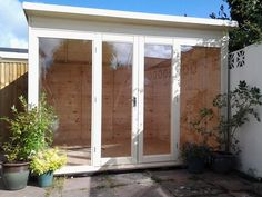 10x8 home office summerhouse insulated painted double glazed options studio bi fold doors home office