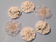 Handmade Shabby Chic Rosette Embellishments