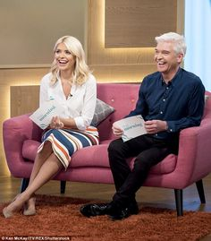Holly Willoughby retches as Phillip Schofield eats INSECTS