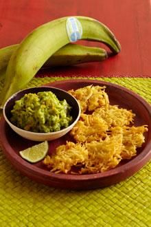 """These crispy Chiquita plantain clusters are called """"little spiders"""" or """"arañitas"""" because of their spidery shape."""