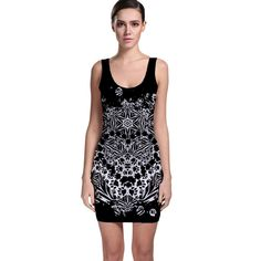 Crazy+Beautiful+Abstract+Bodycon+Dress