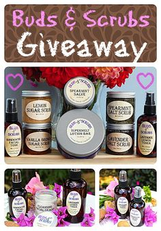 This generous gift set of natural bath and beauty products from Buds and Scrubs is a giveaway you won't want to miss. Enter the giveaway at Organic Sunshine to win this incredible gift set. Giveaway ends 10/6/14