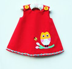 Owl and Ladybug Best Friends Dress  Baby by KKchildrendesigns, $46.00