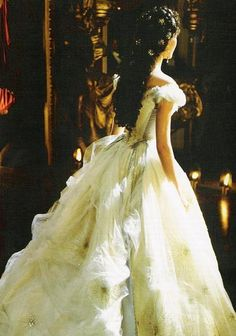 """Christine Daae from Phantom of the Opera and her amazing dress in """"Think of Me"""" ... Yes.  I love Phantom of the Opera... just a little"""