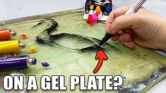 This GENIUS Acrylic Marker TECHNIQUE Will SHOCK YOU! - YouTube Gel Press, Gelli Plate Printing, Gelli Arts, Plate Art, Art Tutorials, Markers, Material, Paper Crafts, Prints