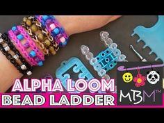 Rainbow Loom Bead Ladder Bracelet on the Alpha Loom - YouTube