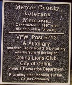 Military Honor Roll, Mercer County, Ohio #genealogy #military