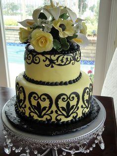 Cricut cake - beautiful wedding cake