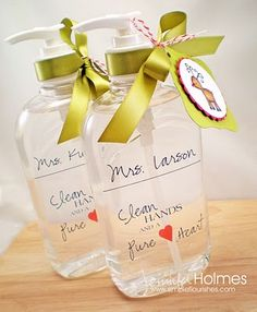 Personalized hand sanitizer - cute gift for a teacher.