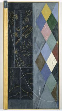 Jasper Johns, Untitled 1998 oil and encaustic on canvas and wood with objects, 44 x 22-1/4 x 4-3/4 inches Courtesy Matthew Marks Gallery