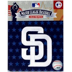 San Diego Padres SD Emblem Sleeve Patch - White - $10.39