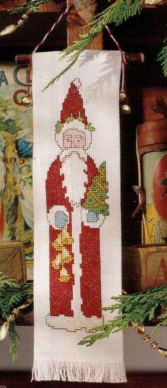 Cross-stitch Santa Christmas Ornament, part 1...    ♥Meus Gráficos De Ponto Cruz♥: Natal