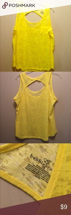 NWOT yellow lace tank NWOT pet friendly Tops Tank Tops