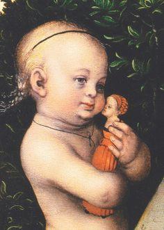 Children with Dolls 16C - 18C   1534 Lucas Cranach (Northern Renaissance Painter, 1472-1553)