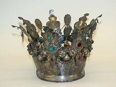 Wedding Crown Date: 19th century Culture: Norwegian Medium: silver, stones