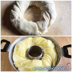 Corona di pan brioche farcita ricetta rustica