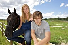 Great pic of Amy and Ty. Link goes to Natural Horsemanship website. Heartland Season 2, Amy And Ty Heartland, Heartland Ranch, Heartland Tv Show, Ty Y Amy, Westerns, Graham Wardle, Amber Marshall, Film Serie