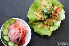 Bánh Mì inspired lettuce wraps {Beard and Bonnet} #glutenfree #vegan #raw