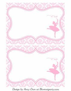 Title Slide Of Ballerina Party Free Printable Invitation