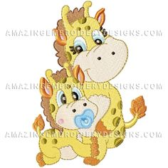{Baby Stuff- Mama & Baby Giraffe- amazing embroidery designs-1101899-79609 K.H.} Amazing Embroidery Designs