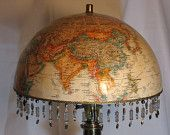 Globe lamp...maybe I could use my globe that has the USSR still on it. Students question where Russia is all the time...they're so particular. :)
