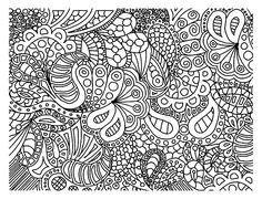 Free coloring page coloring-doodle-art-doodling-2. Doodling is cool !