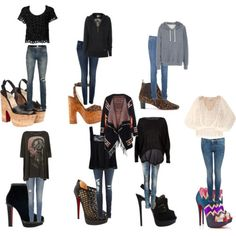 heels and skinny jeans <3