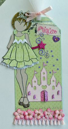 I made this tag for a Julie Nutting Tag Swap Green Princess JN Doll One Tag - Scrapbook.com
