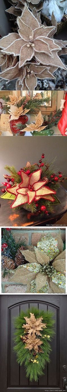 Рождественская пуансеттия из м