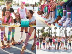 roller skating party socks www.ginaleephoto.com I wonder if they have these in kids size for party favors