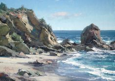 How to paint landscape in oils. Easily learn how to paint water, trees, rocks, and mountains with Matt Smith
