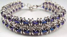 Bees to Butterflies Bracelet - Sterling Silver Chainmaille - Ready to Ship