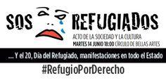 Urgente: SOS Refugiados Acto de la sociedad y la cultura, hoy martes, 14 de junio de las 18:00 horas en el Círculo de Bellas Artes de Madrid Si no puedes acudir síguelo en streaming en nuestras páginas web: www.fitagugt.org y www.mcaugt.org Más información: http://mcaugt.org/noticia.php?cn=25448 #RefugioPorDerecho
