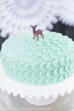 Deer themed party cake