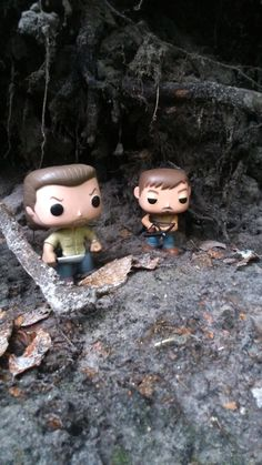 Rick & Daryl...walking dead Funko pop vinyls