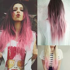 pink ombre long hair styles with hair extensions  bed hair styles for spring or summer