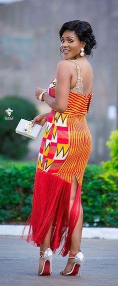 Akosua Vee in modern kente fashion dress, African fashion, Ankara, kitenge, African women dresses, African prints, African men's fashion, Nigerian style, Ghanaian fashion, ntoma, kente styles, African fashion dresses, aso ebi styles, gele, duku, khanga, vêtements africains pour les femmes, krobo beads, xhosa fashion, agbada, west african kaftan, African wear, fashion dresses, asoebi style, african wear for men, mtindo, robes, mode africaine, moda africana, African traditional dresses