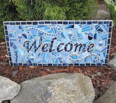 Blue Mosaic welcome sign | Flickr - Photo Sharing!